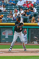 Raimel Tapia (2) of the Albuquerque Isotopes at bat against the Salt Lake Bees in Pacific Coast League action at Smith's Ballpark on August 29, 2016 in Salt Lake City, Utah. The Isotopes defeated the Bees 9-4.  (Stephen Smith/Four Seam Images)