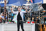 Music artist, Jake Owen,in action before the NASCAR AAA Texas 500 race at Texas Motor Speedway in Fort Worth,Texas.