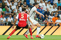 Stade de Reims's Amiot and Real Madrid's Gareth Bale during the XXXVII Bernabeu trophy between Real Madrid and Stade de Reims at the Santiago Bernabeu Stadium. August 15, 2016. (ALTERPHOTOS/Rodrigo Jimenez) /NORTEPHOTO