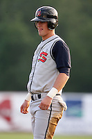 July 7th 2008:  Cole White of the State College Spikes, Class-A affiliate of the Pittsburgh Pirates, during a game at Damaschke Field in Oneonta, NY.  Photo by:  Mike Janes/Four Seam Images