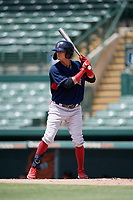 GCL Red Sox Bramdon Perez (10) bats during a Gulf Coast League game against the GCL Orioles on July 29, 2019 at Ed Smith Stadium in Sarasota, Florida.  GCL Red Sox defeated the GCL Pirates 9-1.  (Mike Janes/Four Seam Images)