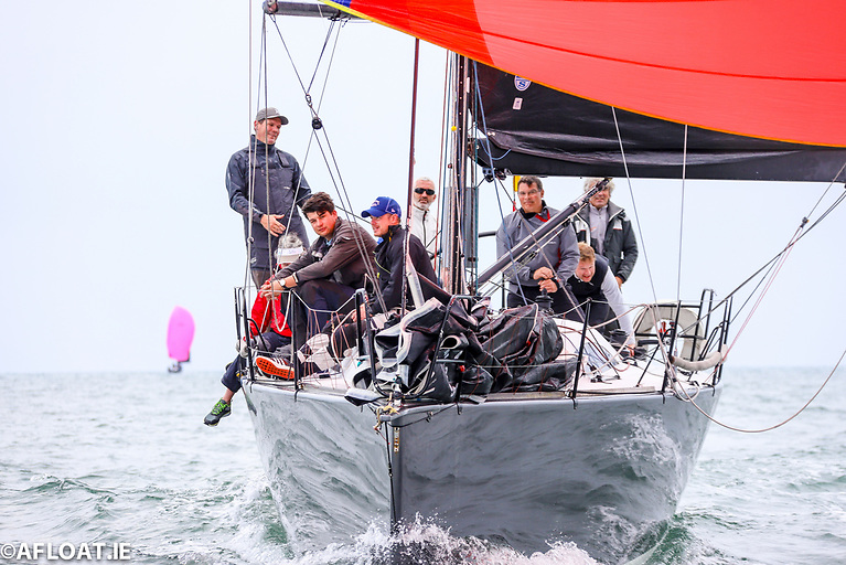 Back in the Game - Jump Juice was back on the water after repairs in time for this morning's first coastal race of the ICRA Championships Photo: Afloat