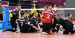 Bryce Foster, Darek Symonowics, Doug Learoyd, and Mikael Bartholdy, Lima 2019 - Sitting Volleyball // Volleyball assis.<br />