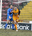 14/02/2009  Copyright Pic: James Stewart.File Name : sct_jspa04_motherwell_v_hamilton.DAVID CLARKSON CELEBRATES AFTER HE SCORES MOTHERWELL'S FIRST.James Stewart Photo Agency 19 Carronlea Drive, Falkirk. FK2 8DN      Vat Reg No. 607 6932 25.Studio      : +44 (0)1324 611191 .Mobile      : +44 (0)7721 416997.E-mail  :  jim@jspa.co.uk.If you require further information then contact Jim Stewart on any of the numbers above.........