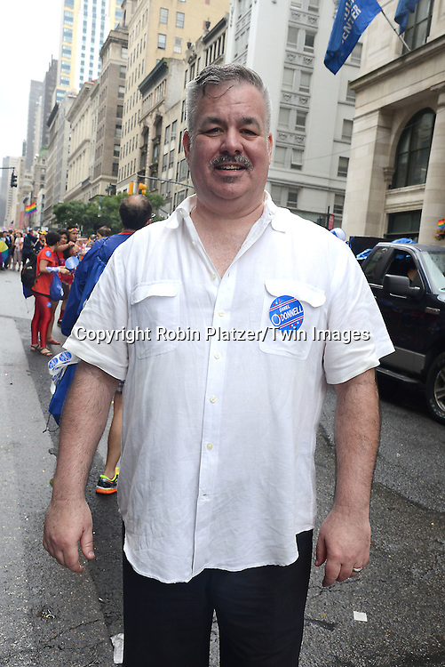 Daniel O' Donnell attends the 2015 NYC Pride March on June 28, 2015 on Fifth Avenue in New York City. <br /> <br /> photo by Robin Platzer/Twin Images<br />  <br /> phone number 212-935-0770