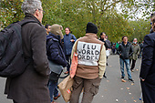 Flu World Order.  Speakers' Corner, Hyde Park, London during the Coronavirus pandemic.