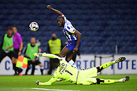 22nd April 2021; Dragao Stadium, Porto, Portugal; Portuguese Championship 2020/2021, FC Porto versus Vitoria de Guimaraes; Moussa Marega of FC Porto sees his effort saved by Bruno Varela of Vitoria de Guimaraes