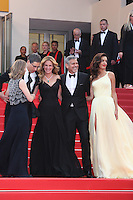 DIRECTOR JODIE FOSTER, GUEST, JULIA ROBERTS, GEORGE CLOONEY AND HIS WIFE AMAL - RED CARPET OF THE FILM 'MONEY MONSTER' AT THE 69TH FESTIVAL OF CANNES 2016