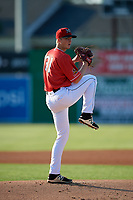 Batavia Muckdogs starting pitcher Dakota Bennett (31) during a NY-Penn League game against the Auburn Doubledays on June 18, 2019 at Dwyer Stadium in Batavia, New York.  Batavia defeated Auburn 7-5.  (Mike Janes/Four Seam Images)
