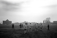 Pix:Michael Steele/SWpix...Rugby League. Fartown...COPYRIGHT PICTURE>>SIMON WILKINSON..St.Helens warm up at Fartown.