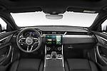 Stock photo of straight dashboard view of 2021 Jaguar XF-Sportbrake R-Dynamic-S 5 Door Wagon Dashboard