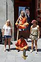 Street Entertainer in Puerto del Sol in Madrid in Spain
