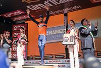 Vincenzo Nibali (ITA/Bahrain-Merida) wins the queen stage over the Stelvio Pass <br /> <br /> Stage 16: Rovett › Bormio (222km)<br /> 100th Giro d'Italia 2017