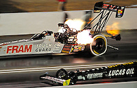 Jul. 24, 2009; Sonoma, CA, USA; NHRA top fuel dragster driver Cory McClenathan during qualifying for the Fram Autolite Nationals at Infineon Raceway. Mandatory Credit: Mark J. Rebilas-