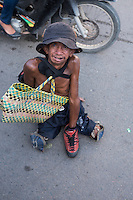 Handicapped and disabled people in the streets of Phnom Penh, Cambodia