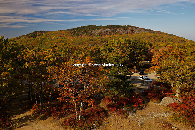 View of Mt. Megunticook from Mt. Battie, Camden Hills State Park, Knox County, Maine, USA