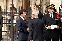 Manuel Valls, Claude Bartolone, Michel Cadot - Messe en l'hommage du Pretre Jacques Hamel à La Cathedrale De Notre Dame De Paris, 27 juillet 2016
