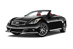 Stock pictures of low aggressive front three quarter view of 2015 Infiniti Q60 Ipl 2 Door Convertible