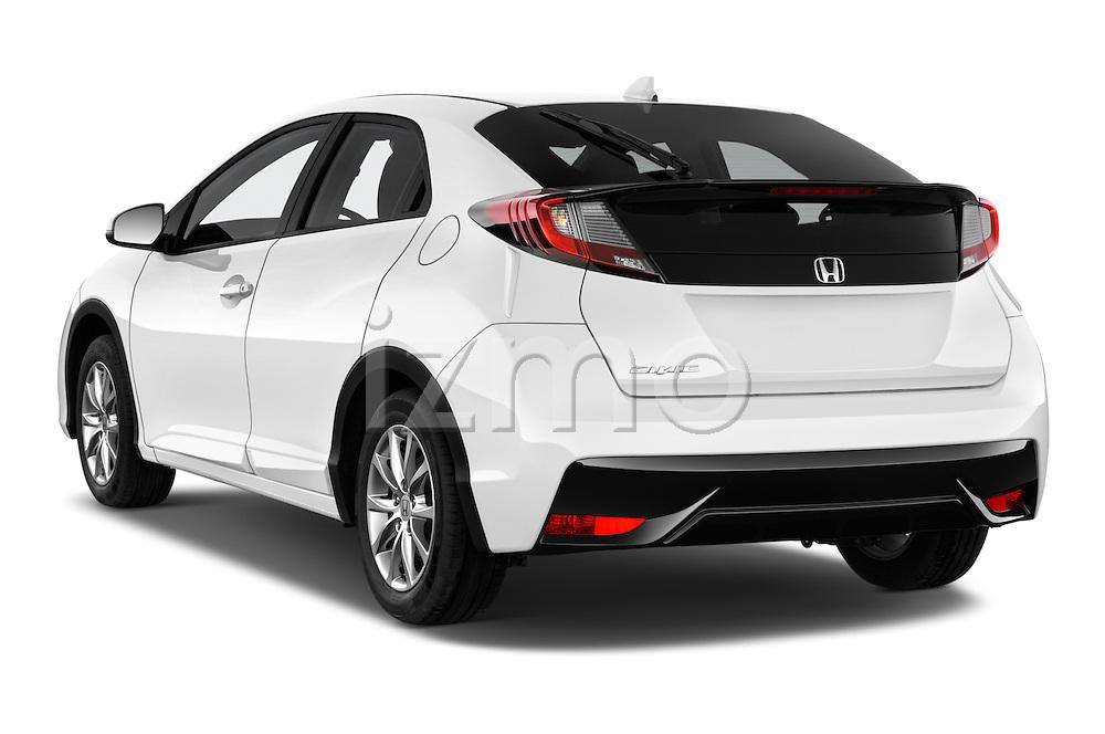 Car pictures of rear three quarter view of 2015 Honda Civic Comfort 5 Door Hatchback Angular Rear
