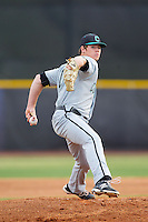 Coastal Carolina Chanticleers starting pitcher Ben Smith (11) in action against the High Point Panthers at Willard Stadium on March 14, 2014 in High Point, North Carolina.  The Panthers defeated the Chanticleers 3-0.  (Brian Westerholt/Four Seam Images)