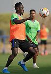 Getafe CF's Djene Dakonam during training session. August 26,2021.(ALTERPHOTOS/Acero)