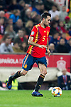 Spain's Sergio Busquets  during the qualifying match for Euro 2020 on 23th March, 2019 in Valencia, Spain. (ALTERPHOTOS/Alconada)