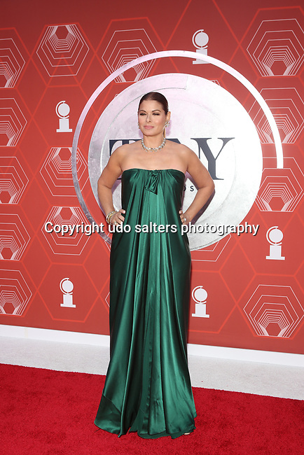 Debra Messing attends the 74th Tony Awards-Broadway's Back! arrivals at the Winter Garden Theatre in New York, NY, on September 26, 2021.