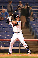 Binghamton Mets first baseman Jayce Boyd (15) at bat during a game against the Bowie Baysox on August 3, 2014 at NYSEG Stadium in Binghamton, New York.  Bowie defeated Binghamton 8-2.  (Mike Janes/Four Seam Images)