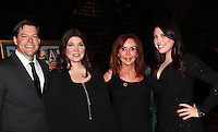"General Hospital Jacklyn Zeman ""Bobbie Spencer"" poses with singers Ron and Samantha Sharpe (R) and Barbra Russell. They are the parents of twins Aiden and Connor who played ""Trevor Martin"" on All My Children. Jackie is honorary chair of The 29th Annual Jane Elissa Extravaganza which benefits The Jane Elissa Charitable Fund for Leukemia & Lymphoma Cancer, Broadway Cares and other charities on November 14, 2016 at the New York Marriott Hotel, New York City presented by Bridgehampton National Bank and Walgreens.  (Photo by Sue Coflin/Max Photos)"