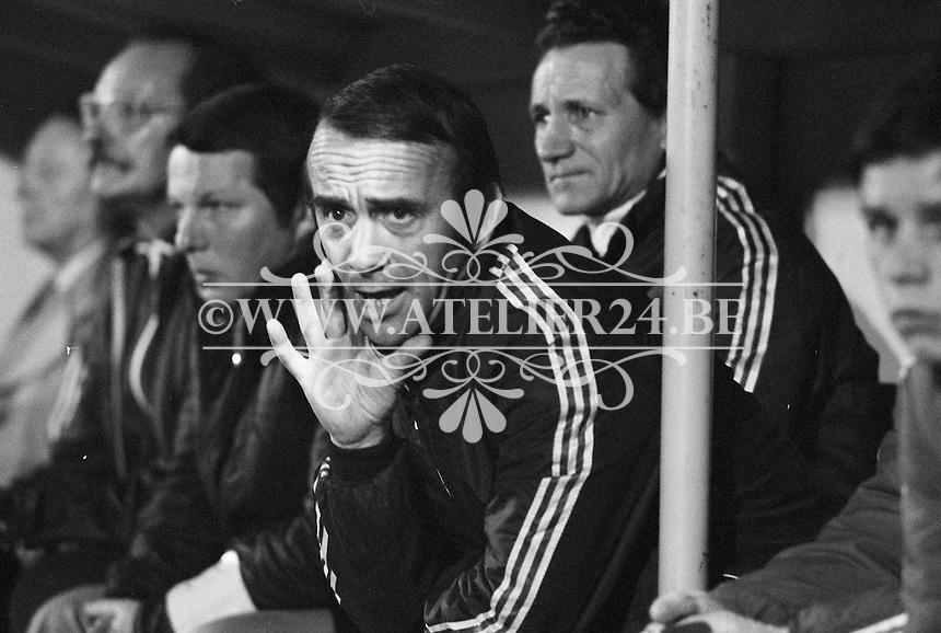1977. RSC Anderlecht. Assistent-trainer Martin Lippens.