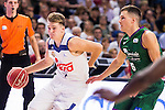 Real Madrid's player Luka Doncic and Unicaja Malaga's player Nemanja Nedovic during match of Liga Endesa at Barclaycard Center in Madrid. September 30, Spain. 2016. (ALTERPHOTOS/BorjaB.Hojas)