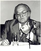 Le President de la FTQ Louis Laberge,<br />  le 23 Janvier 1980<br /> <br /> <br /> PHOTO : Agence Quebec Prese