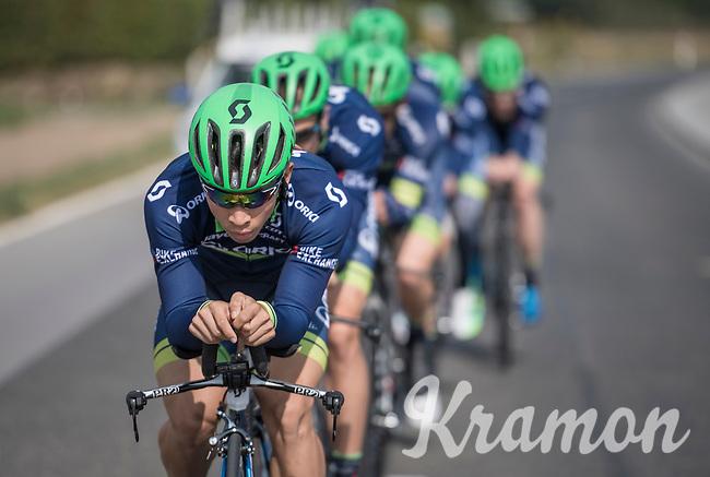Caleb Ewan (AUS/Orica-BikeExchange) leading Team Orica-BikeExchange during TTT recon/practice<br /> <br /> 12th Eneco Tour 2016 (UCI World Tour)<br /> stage 5 (TTT) Sittard-Sittard (20.9km) / The Netherlands