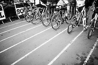 Elite Men start grid<br /> <br /> Jaarmarktcross Niel 2014