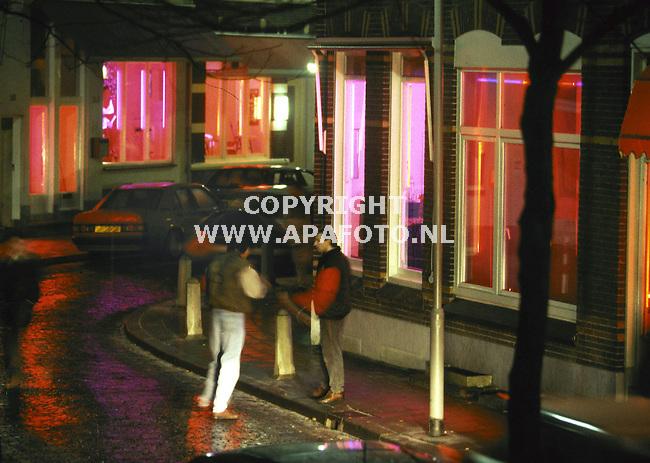 arnhem archief foto frans ypma APA-foto<br />raamprostituties in arnhems spijkerkwartier.