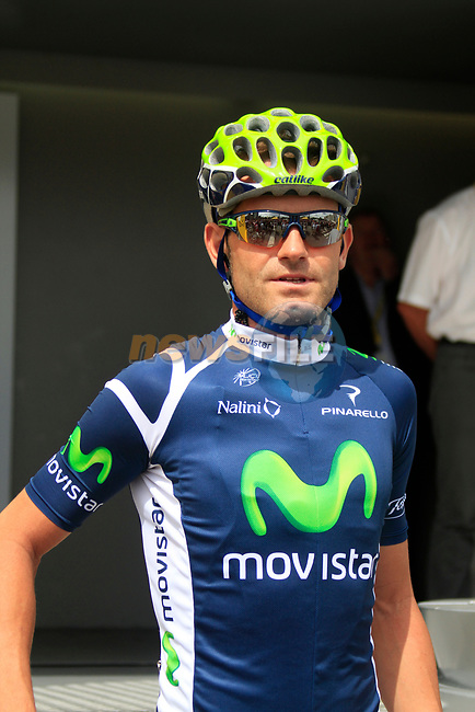 Jose Joaquin Rojas (ESP) Movistar Team at sign on before the start of Stage 1 of the 99th edition of the Tour de France, running 198km from Liege to Seraing starting in Parc d'Avroy Liege, Belgium. 1st July 2012.<br /> (Photo by Eoin Clarke/NEWSFILE)