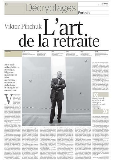 LE MONDE (main French daily newspaper)..2007/10/10.Viktor Pinchuk in Ukraine..Photo: Cyril Horiszny