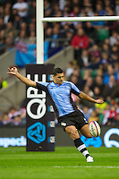 Josh Matavesi of the Flying Fijians in action during the QBE International between England and Fiji at Twickenham on Saturday 10th November 2012 (Photo by Rob Munro)