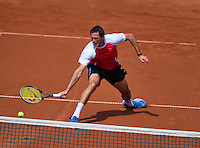 08-07-13, Netherlands, Scheveningen,  Mets, Tennis, Sport1 Open, day one, Stephan Fransen (NED)<br /> <br /> <br /> Photo: Henk Koster