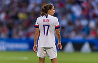 LE HAVRE,  - JUNE 20: Tobin Heath #17 waits for play to restart during a game between Sweden and USWNT at Stade Oceane on June 20, 2019 in Le Havre, France.