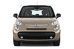 Car photography straight front view of a 2014 Fiat 500L Lounge 5 Door MPV