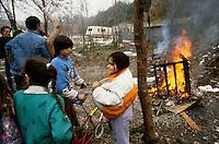 - camp of Rom nomads at Bologna periphery....- accampamento di nomadi Rom alla periferia di Bologna