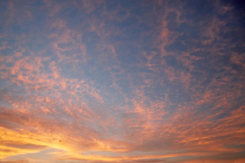 Sunset clouds over the Palouse. Washington