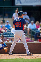 Rome Braves first baseman Austin Bush (48) at bat during a game against the Lexington Legends on May 23, 2018 at Whitaker Bank Ballpark in Lexington, Kentucky.  Rome defeated Lexington 4-1.  (Mike Janes/Four Seam Images)