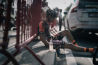 after finishing<br /> <br /> 92nd Schaal Sels 2017 <br /> 1 Day Race: Merksem > Merksem (188km)