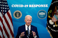 U.S. President Joe Biden speaks on the state of the Covid-19 vaccine in the South Court Auditorium of the White House in Washington, D.C., U.S., on Monday, March 29, 2021. <br /> CAP/MPI/RS<br /> ©RS/MPI/Capital Pictures
