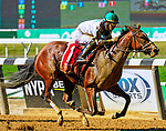 September 18, 2021: Hot Fudge #1, ridden by jockey Jose L. Ortiz wins a maiden special weight at Belmont Park in Elmont, N.Y. on September 18th, 2021. Dan Heary/Eclipse Sportswire/CSM