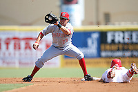 April 15, 2009:  Second baseman Justin Tordi of the Sarasota Reds, Florida State League Class-A affiliate of the Cincinnati Reds, during a game at Roger Dean Stadium in Jupiter, FL.  Photo by:  Mike Janes/Four Seam Images