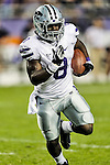 Kansas State Wildcats running back Angelo Pease (8) in action during the game between the Kansas State Wildcats and the TCU Horned Frogs at the Amon G. Carter Stadium in Fort Worth, Texas. Kansas State defeats TCU 23 to 10....