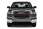 Car photography straight front view of a 2017 GMC Sierra-1500 Crew-SLE 4 Door Pickup Front View